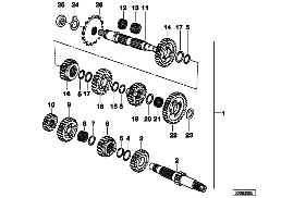 5-SPEED TRANSMISS.GEAR WHEEL SET PARTS