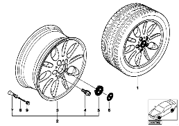 BMW LA wheel, ellipsoid styling 56