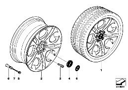 BMW LA wheel, ellipsoid styling 107
