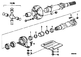 DRIVE SHAFT ATTACH.PARTS CENTER BEARING