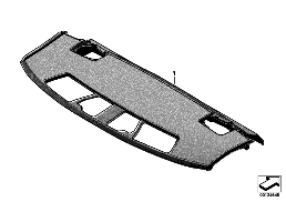 INDIVIDUAL REAR WINDOW SHELF, ALCANTARA