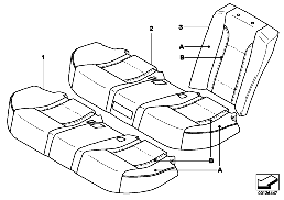 INDIV.COVER, BASIC SEAT, REAR U7