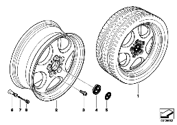 BMW LA WHEEL, ELLIPSOID STYLING 109