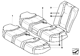 INDIV.COVER, BASIC SEAT, REAR U6