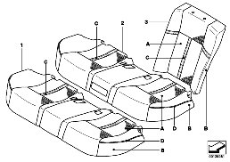 IND. BASIC SEAT KLIMA-LEATHER,U6 REAR