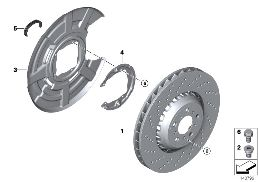 REAR WHEEL BRAKE DISC, PERFORATED