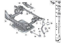FRONT AXLE SUPPORT, 4-WHEEL