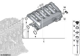 INTAKE MANIFOLD- WITHOUT FLAP CONTROL