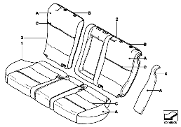 INDIVIDUAL COVER, LEATHER, SEAT REAR