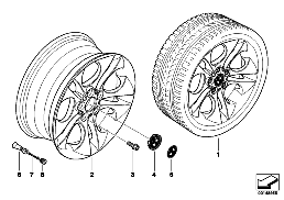 BMW LA wheel, ellipsoid styling 202