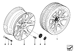 BMW LA WHEEL, STAR SPOKE 185