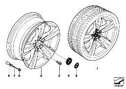 BMW LA WHEEL, STAR SPOKE 189