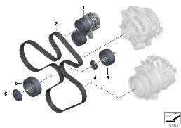BELT DRIVE-GENERATOR/AC/POWER STEERING