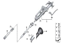 STEERING COLUMN, MANUAL / STEERING SHAFT