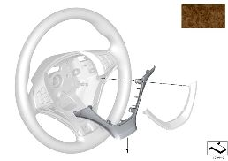COVER FOR SPORT STEERING WHEEL, WOOD
