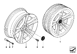 BMW LA WHEEL, DUAL SPOKE 268