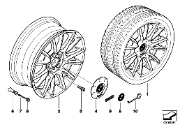 BMW LA wheel,individual, V-spoke 228