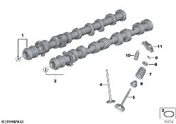 VALVE TIMING GEAR - CAMSHAFT/VALVES