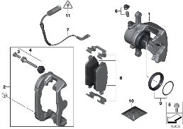 REAR BRAKE / BRAKE PAD / WEAR SENSOR