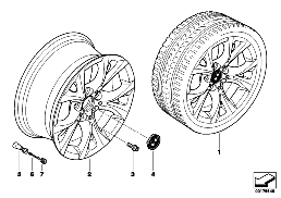 BMW LA WHEEL, V-SPOKE 279