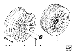 BMW LA WHEEL, MULTISPOKE 282