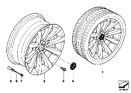 BMW LA wheel V-spoke 285