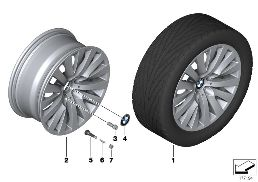 BMW LA WHEEL V-SPOKE 254 - 18''