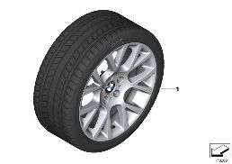 WINTER WHEEL W.TIRE DOUBLE SP.238 -19