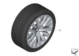 WINTER WHEEL WITH TIRE V-SPOKE 254 - 18