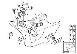 FUEL TANK/ATTACHING PARTS