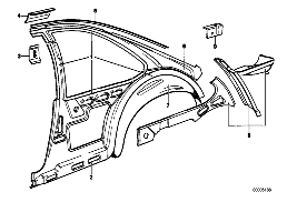 BODY-SIDE FRAME REAR