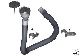 FILLER PIPE FOR WASH CONTAINER