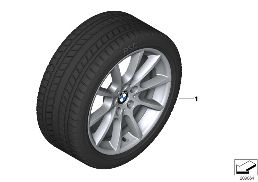 WINTER WHEEL WITH TIRE V-SPOKE 281 - 18