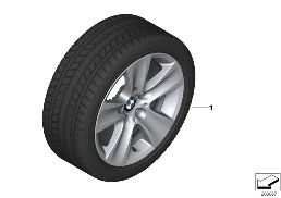 WINTER WHEEL W.TIRE STAR SP.327 - 17