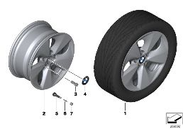 BMW LA WHEEL STREAMLINE 363 - 17''