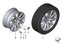 BMW LA WHEEL TURBINE STYLING 329 - 18''