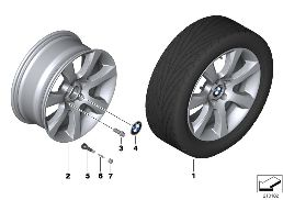 BMW LA WHEEL STAR SPOKE 330 - 18''