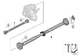4-WHEEL DRIVE SHAFT/INSERT NUT