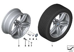 BMW LA WHEEL M DOUBLE SPOKE 351 - 19''