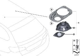 PARTS F REAR MOULDED HEADLNG LOUDSPEAKER