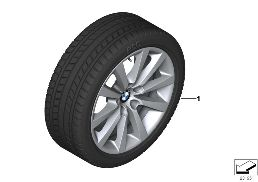 WINTER WHEEL WITH TIRE V-SPOKE 328 - 18