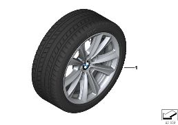 WINTER WHEEL WITH TIRE V-SPOKE 236 - 17