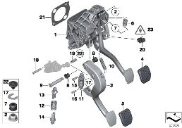 PEDAL ASSEMBLY, MANUAL TRANSMISSION