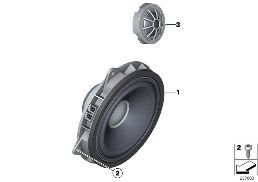 HIGH-END SOUND SYSTEM, DOOR, FRONT