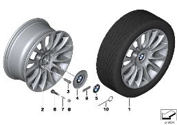 BMW LA WHEEL INDIVIDUAL V SPOKE 349-19''