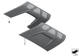 HEADLINER CONTROLS TRIM/ FRONT DOME LAMP