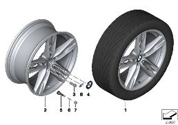 BMW LA WHEEL M DOUBLE SPOKE 373 - 20''