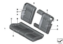 INDI. COVER, LEATHER, SEAT, REAR (S4UKA)