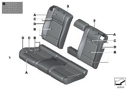 INDI. COVER, REAR SEAT PERF LTHR (S4UKA)