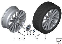 BMW LA WHEEL INDIVIDUAL V-SPOKE 374-20''